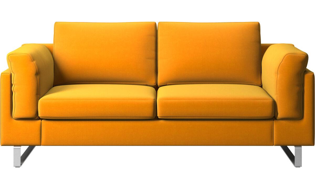2-sitzer Sofas - Indivi Sofa - Orange - Stoff