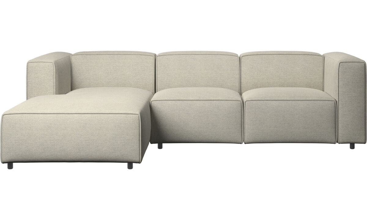 Chaise longue sofas - Carmo motion sofa with resting unit - Beige - Fabric