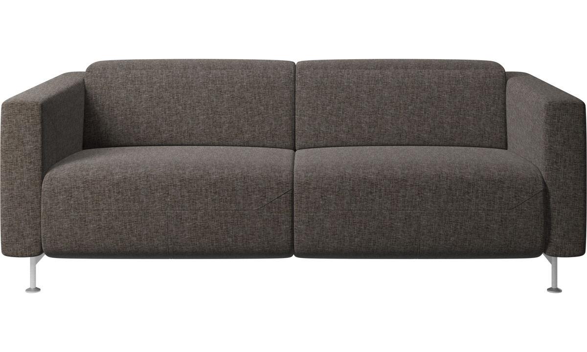 Sofás reclinables - Sofá reclinable Parma - En marrón - Tela