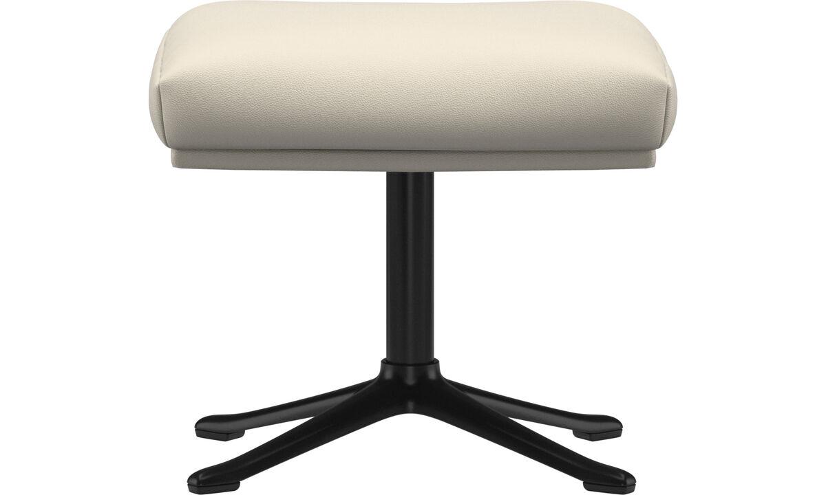 Footstools - Reno footstool - White - Leather