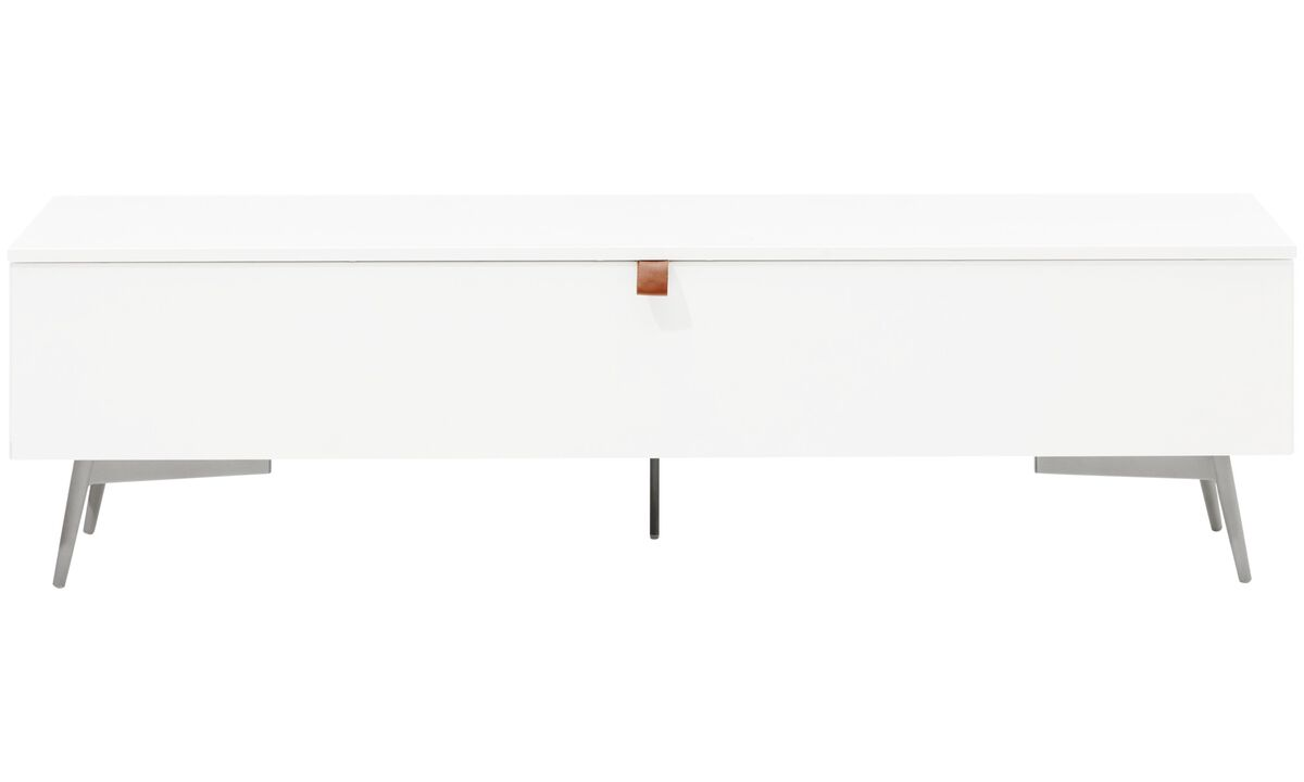 Benches - Lugano bench with storage - White - Lacquered