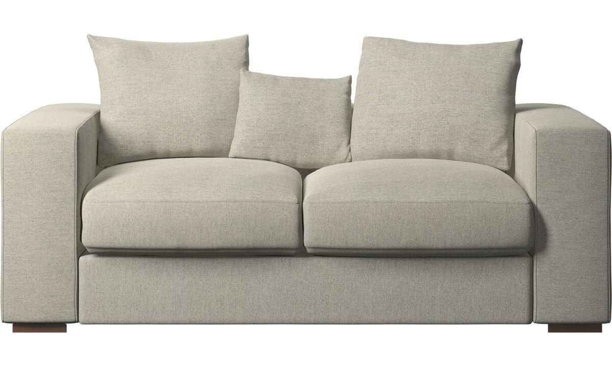 Sofás de 2 plazas - sofá Cenova - En beige - Tela