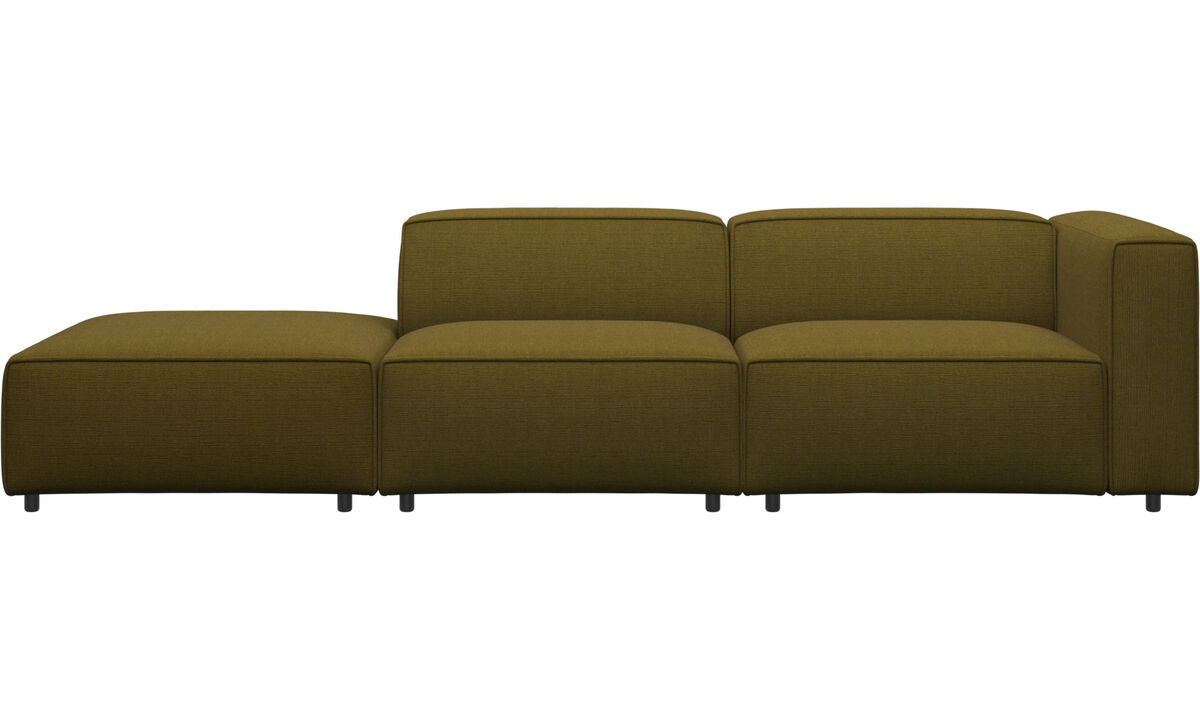 Sofas - Carmo sofa with lounging unit - Yellow - Fabric