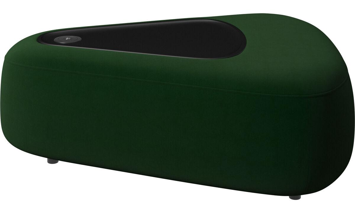 Модульные диваны - tрехугольный пуфик Ottawa с подносом - Зеленый - Tкань