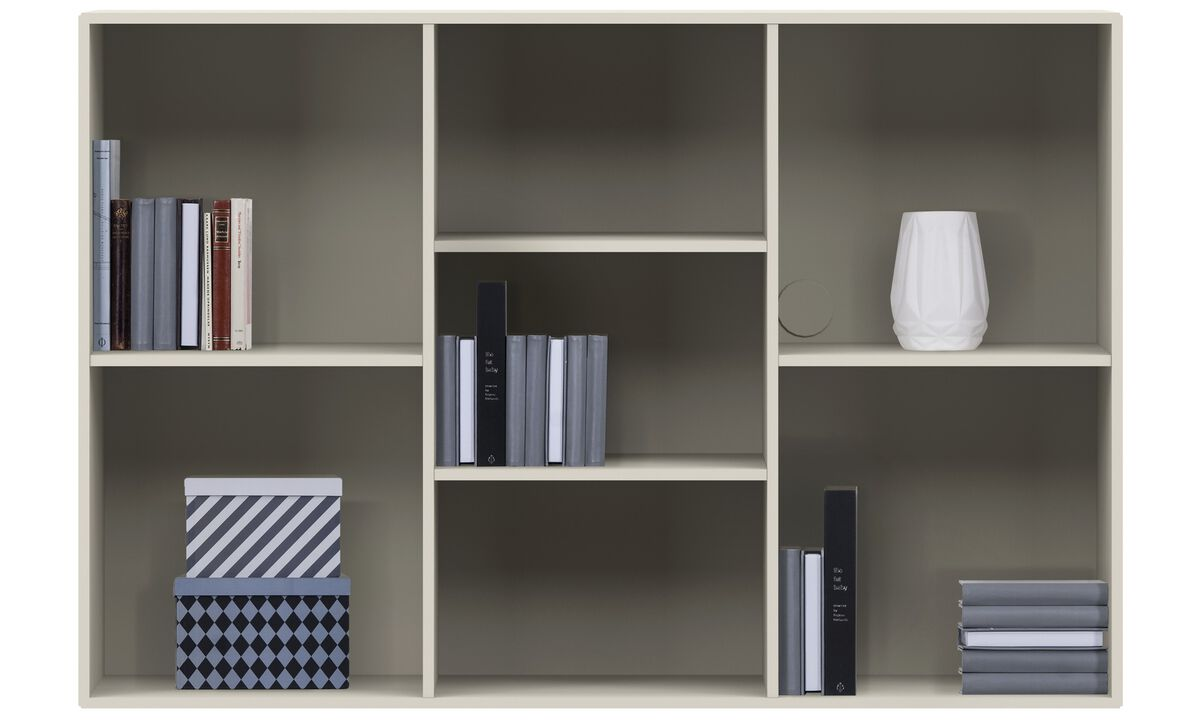 Wall Units - Como wall system - Grey - Lacquered