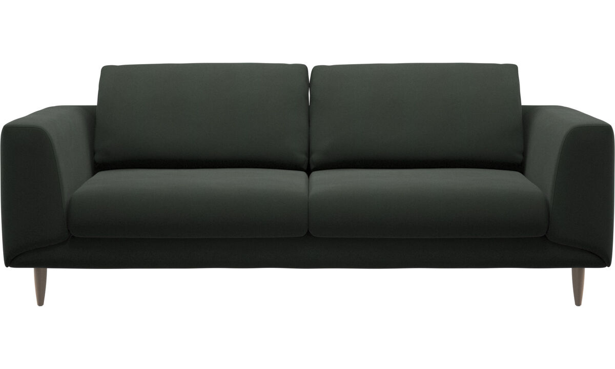 Sofás de 2 lugares e meio - Sofá Fargo - Verde - Tecido