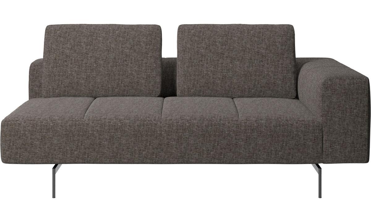 2½ personers sofaer - Amsterdam 2,5 siddemodul, armlæn højre - Brun - Stof