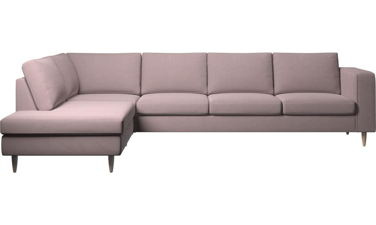 Sofás esquineros - sofá esquinero Indivi con módulo de descanso - Morado - Tela