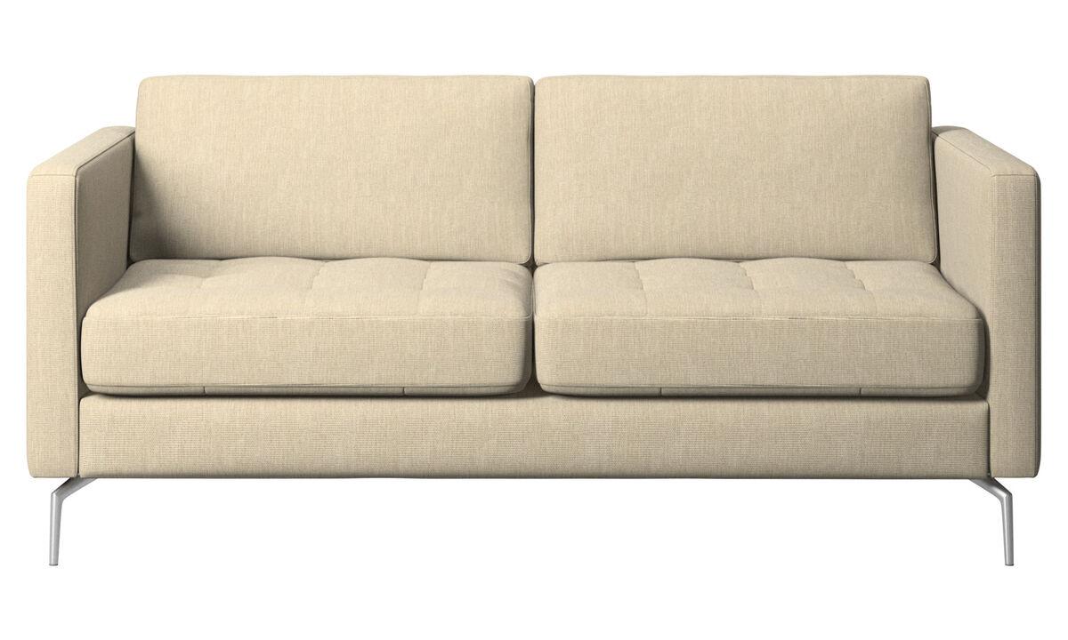 2 seater sofas - Osaka sofa, tufted seat - Brown - Fabric
