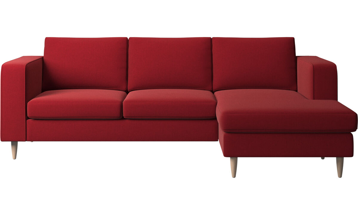 Chaise lounge sofas - Indivi sofa with resting unit - Red - Fabric