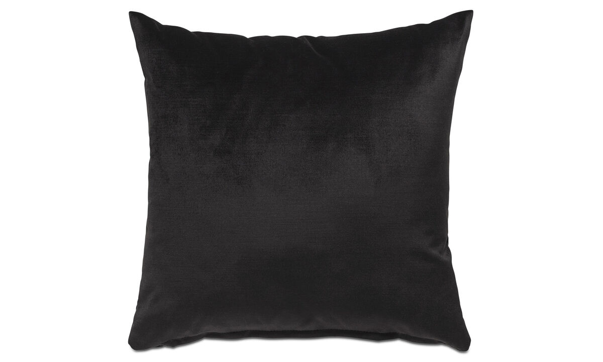 Velvet cushions - Velvet cushion - Black - Fabric