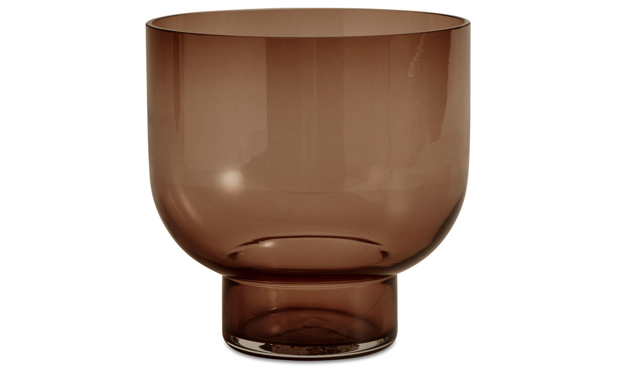 Lucid glass vase - Brown - Sticla