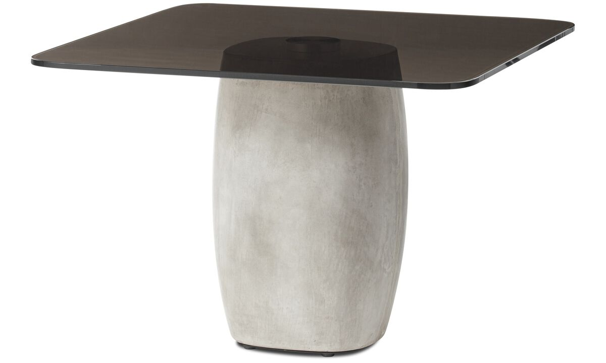 Tables basses - table basse Bilbao - carré - Marron - Verre