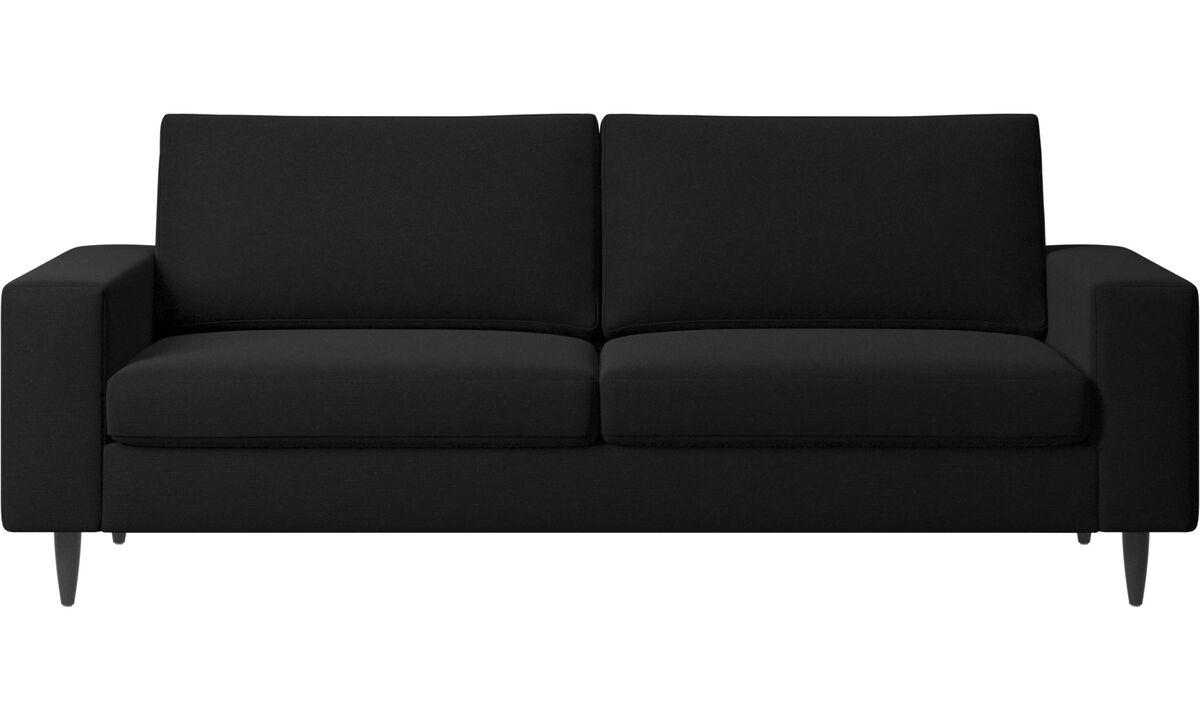 2.5 seater sofas - Indivi sofa - Black - Fabric
