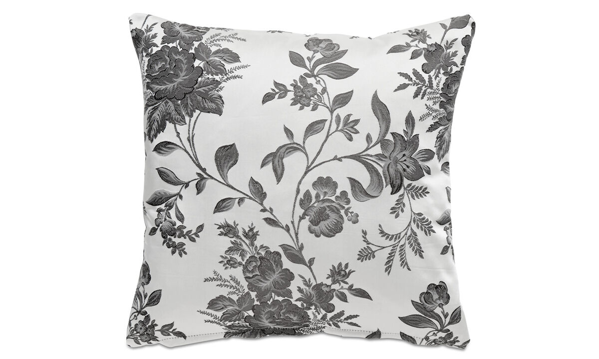 Patterned cushions - Rose cushion - Brown - Fabric