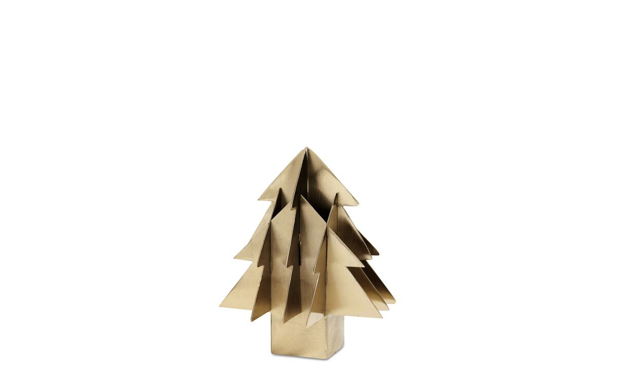 Sculptures - Christmas Tree sculpture - Yellow - Metal