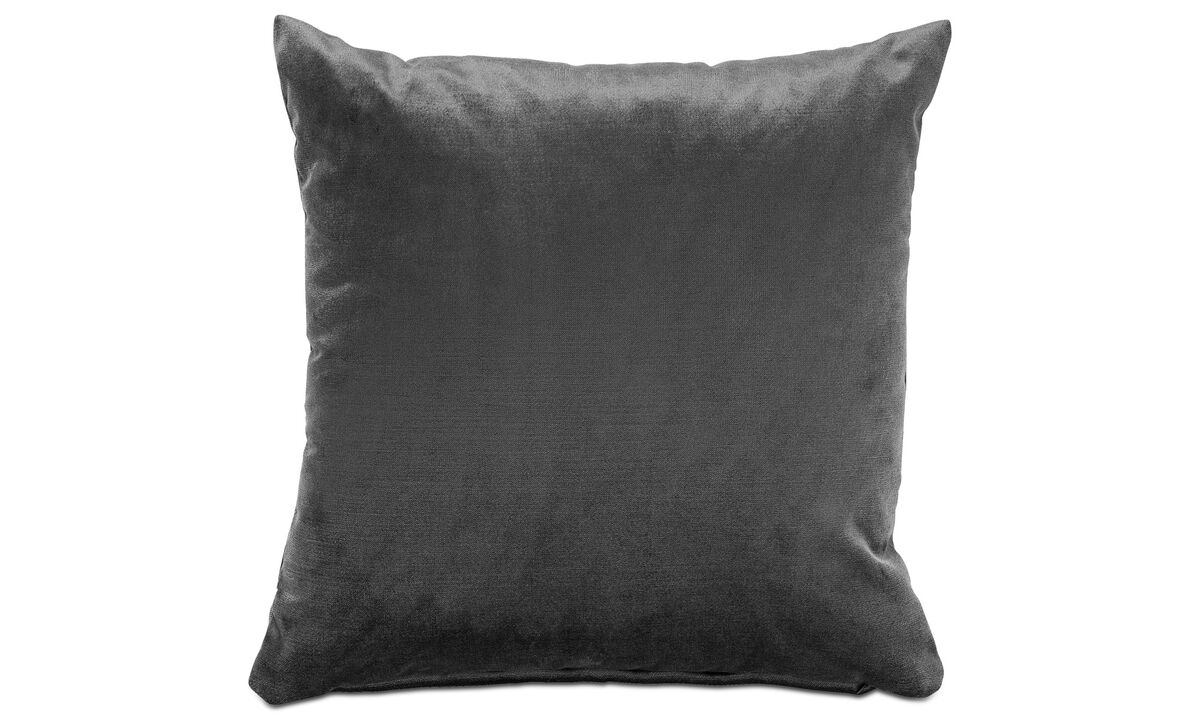 Cushions - Velvet cushion - Grey - Fabric