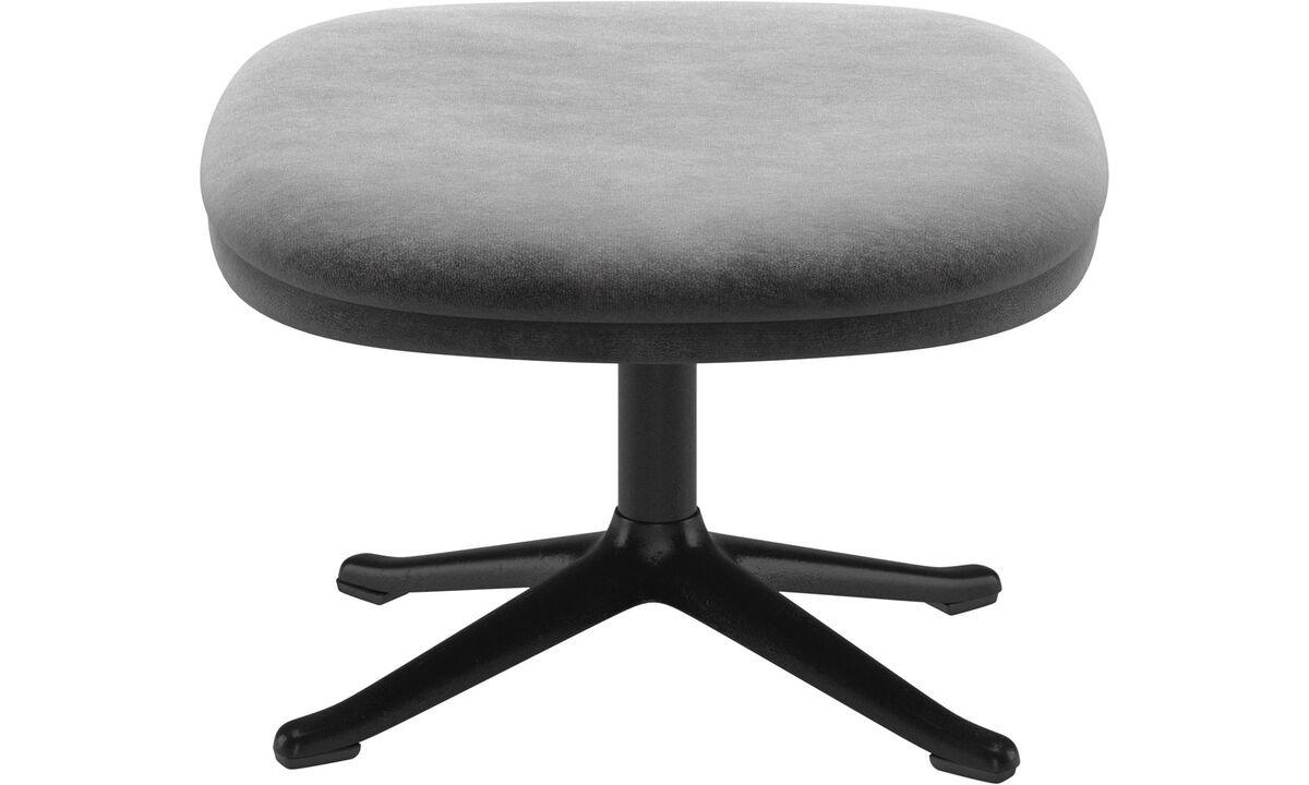 Footstools - Adelaide footstool - Grey - Fabric