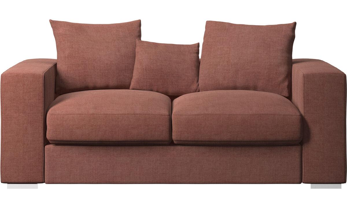 2 seater sofas - Cenova sofa - Red - Fabric
