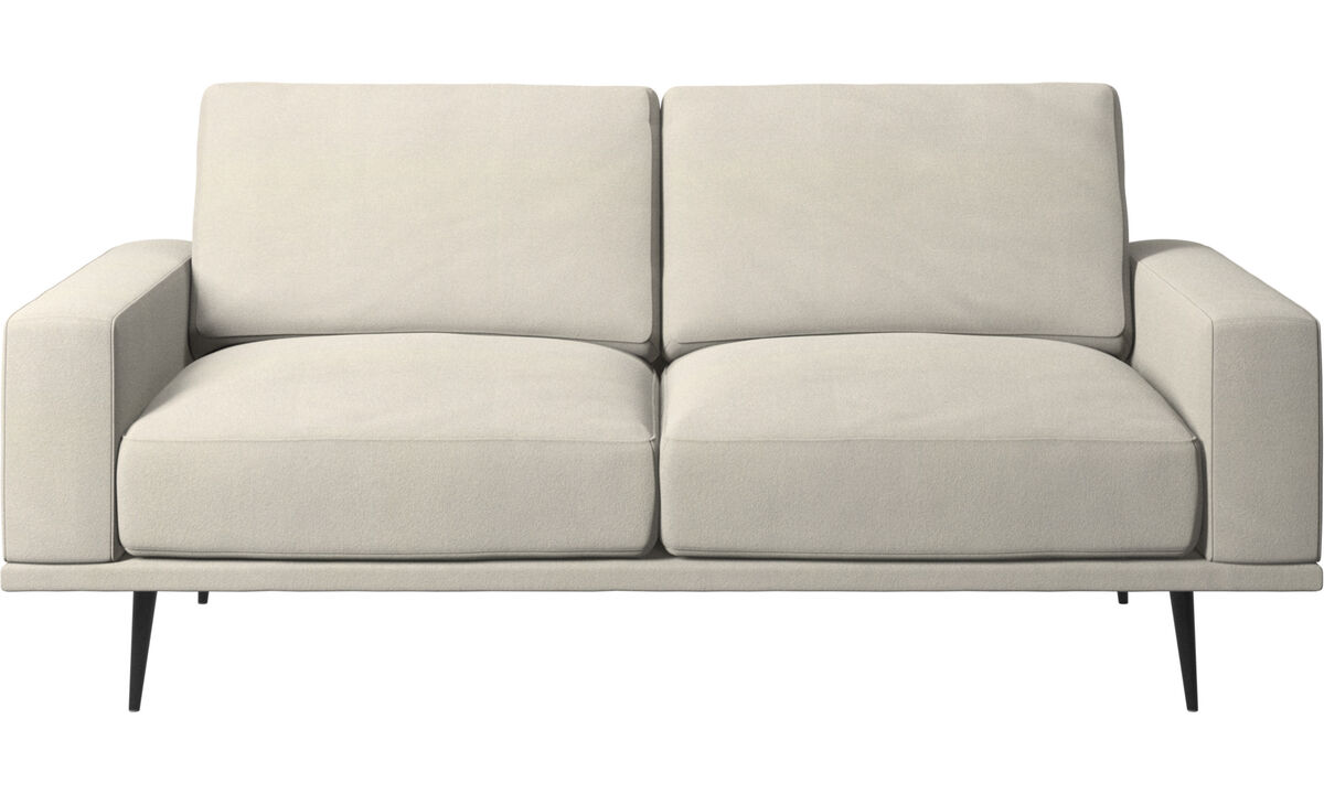 2 seater sofas - Carlton sofa - White - Fabric