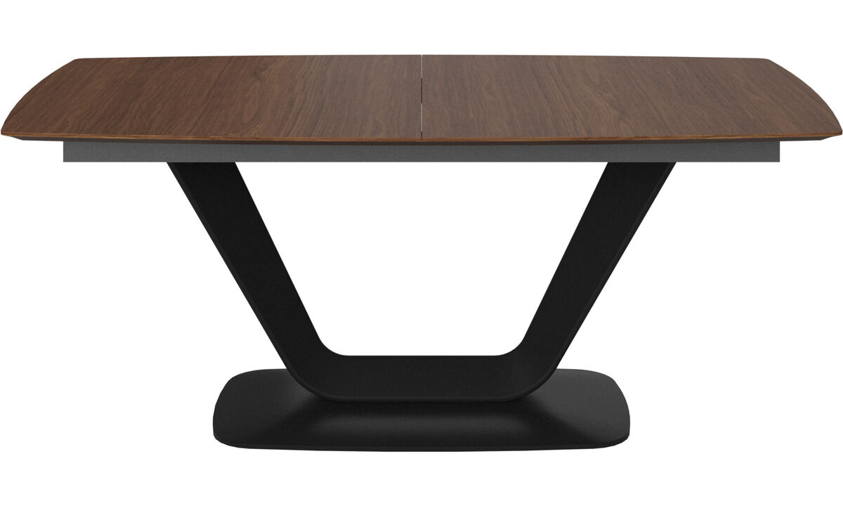 Dining tables - Alicante table with supplementary tabletop - rectangular - Brown - Walnut