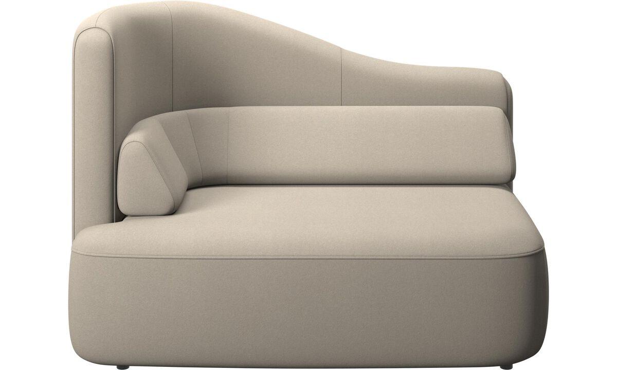 Modulárne sedačky - 1,5 sed Ottawa, opierka rúk vľavo - Béžová - Látka