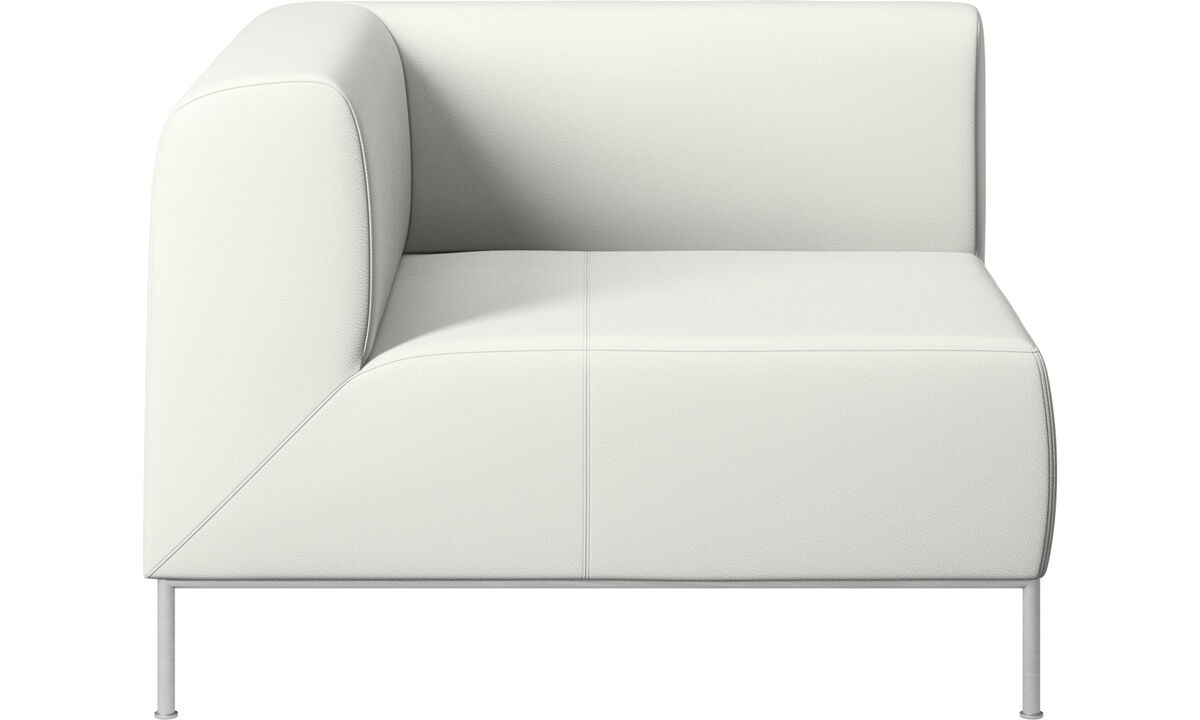 Sofás modulares - módulo esquinero Miami lado izquierdo - Blanco - Piel