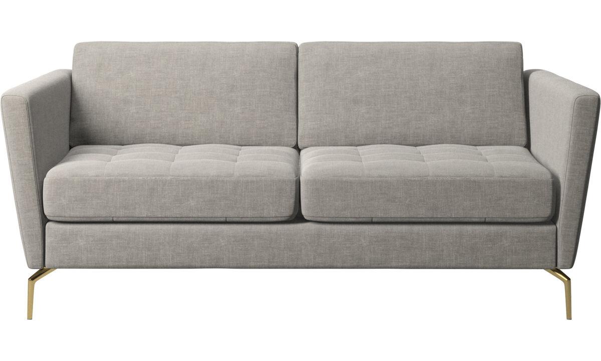 2 seater sofas - Osaka sofa, tufted seat - Gray - Fabric