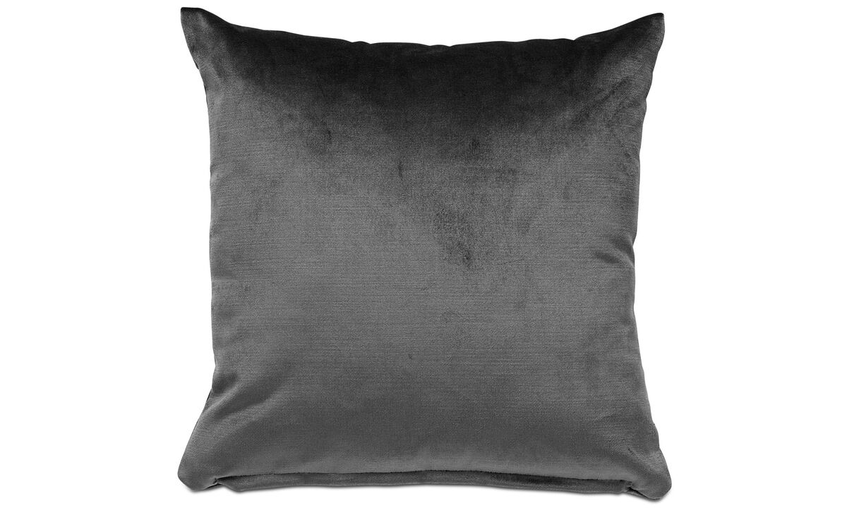 Cushions - Velvet cushion - Grey - Fabric