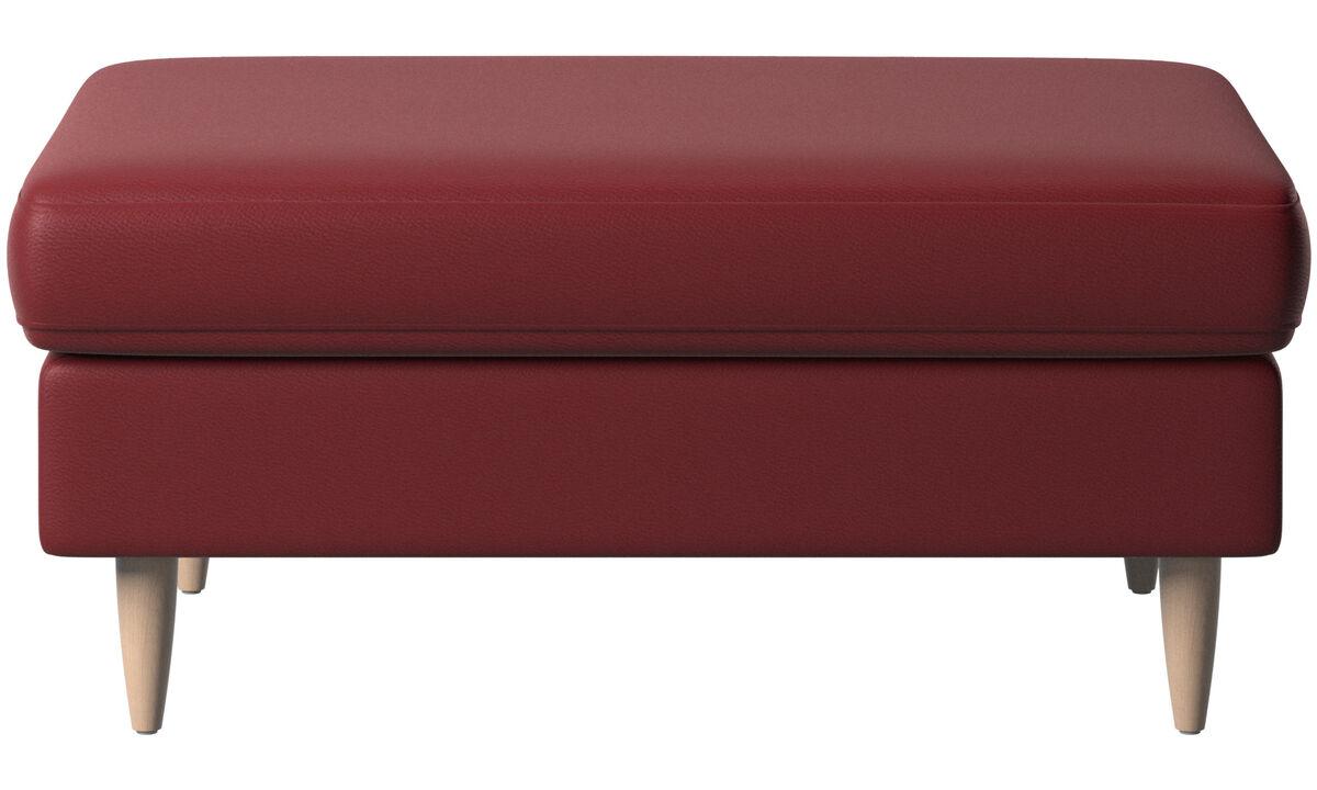 Footstools - Indivi 2 footstool - Red - Leather