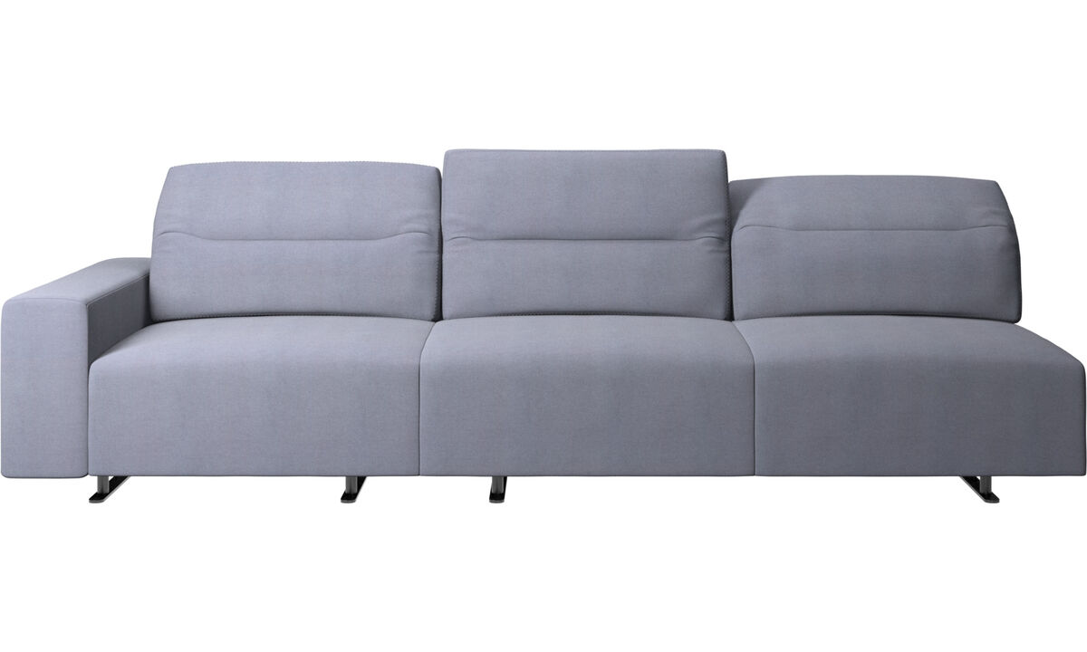 3 seater sofas - Hampton sofa with adjustable back - Blue - Fabric