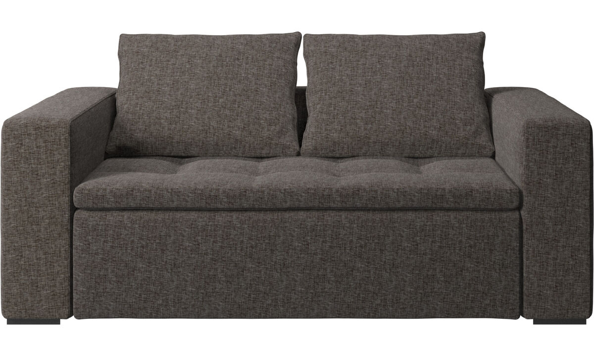2 seater sofas - Mezzo sofa - Brown - Fabric
