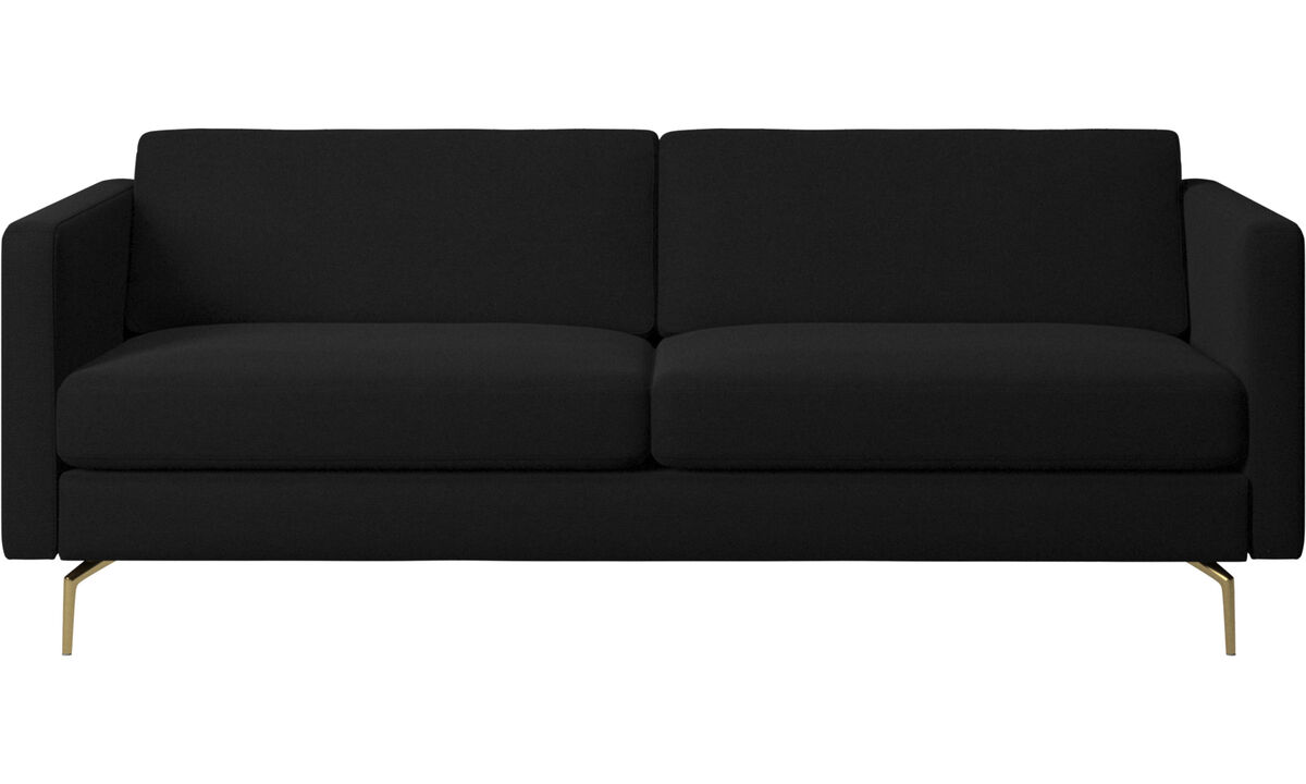 2.5 seater sofas - Osaka sofa, regular seat - Black - Fabric
