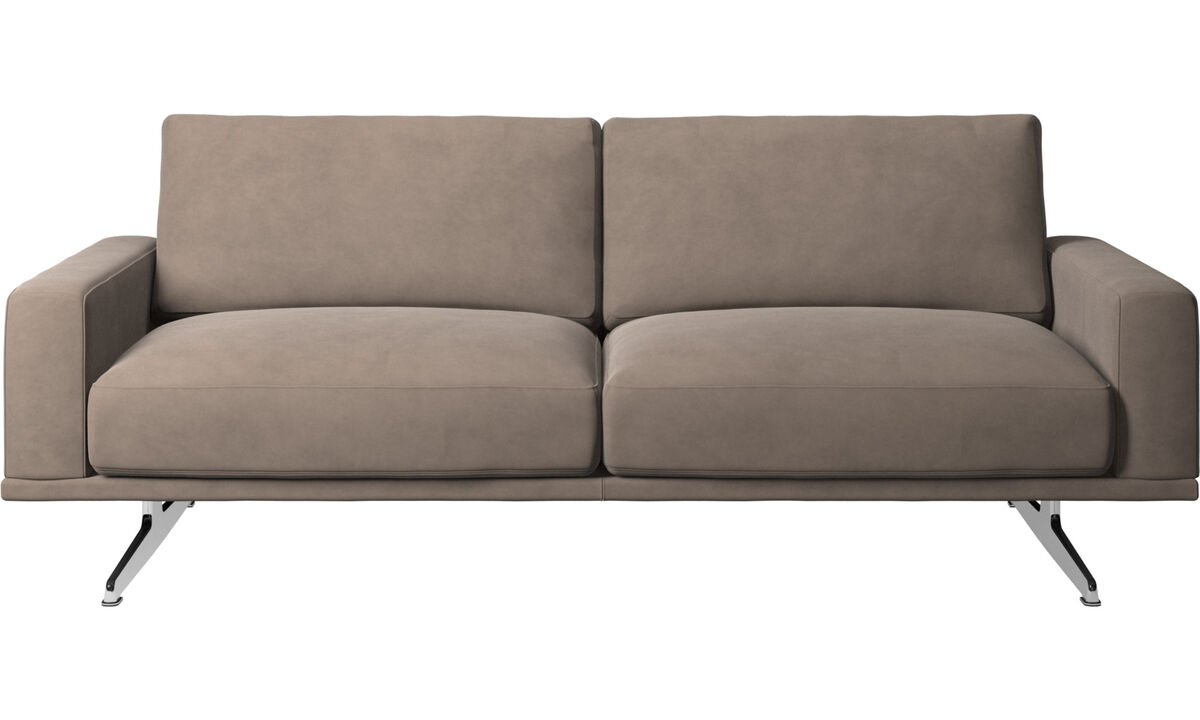 2.5 seater sofas - Carlton sofa - Gray - Leather