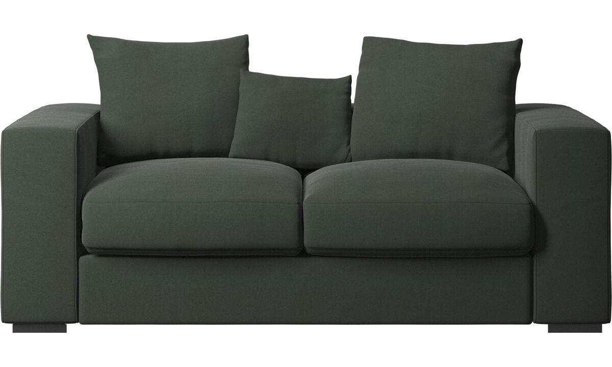 Sofás de 2 lugares - Sofá Cenova - Verde - Tecido