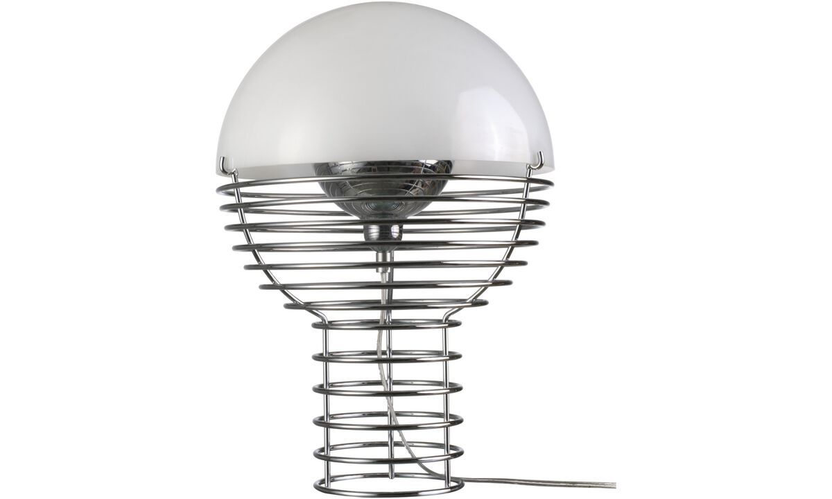 Lamps - Wire table lamp - White - Metal