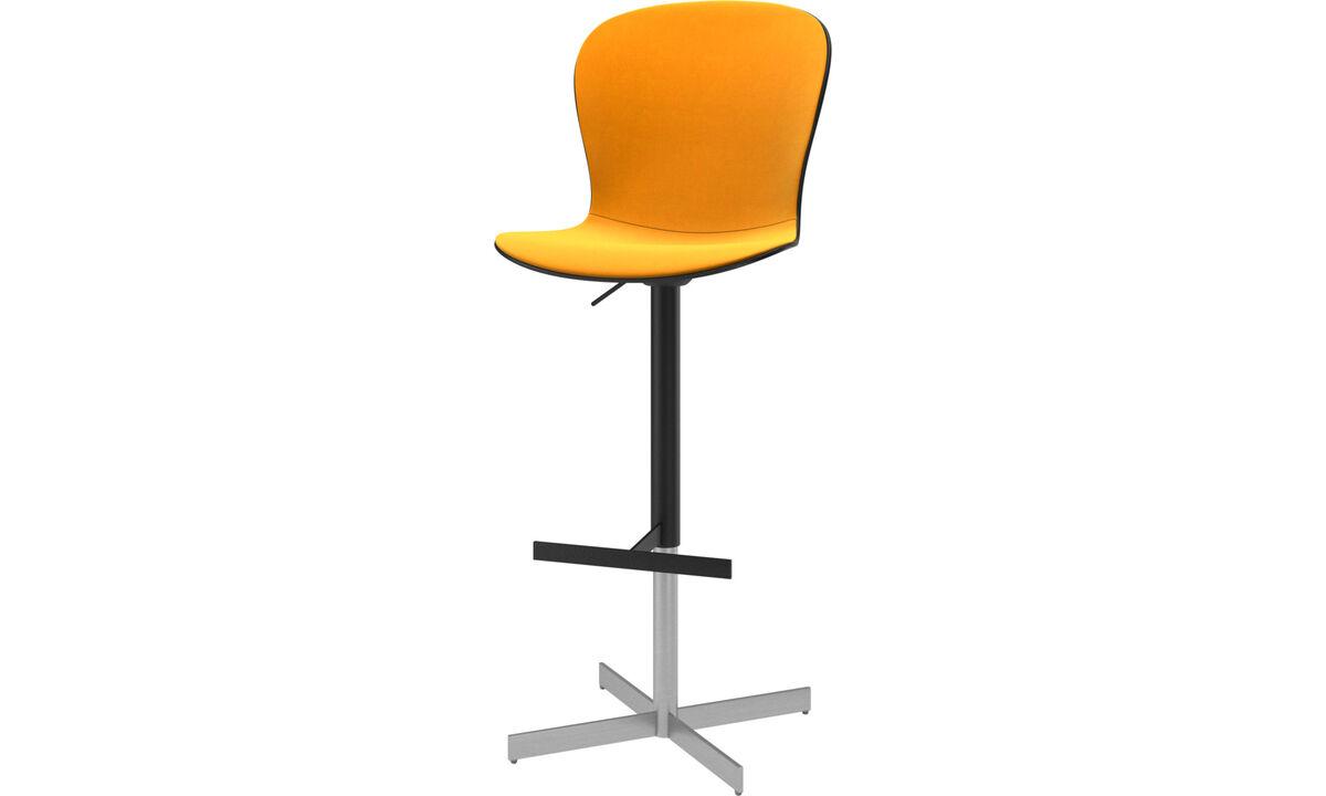 Bar stools - Adelaide barstool with gas cartridge - Orange - Fabric