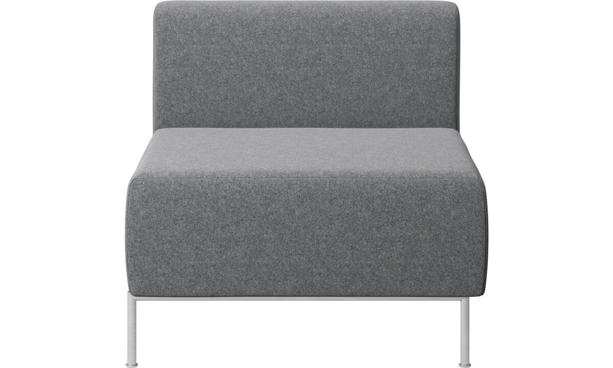 Modular sofas - Miami seat with back - Grey - Fabric
