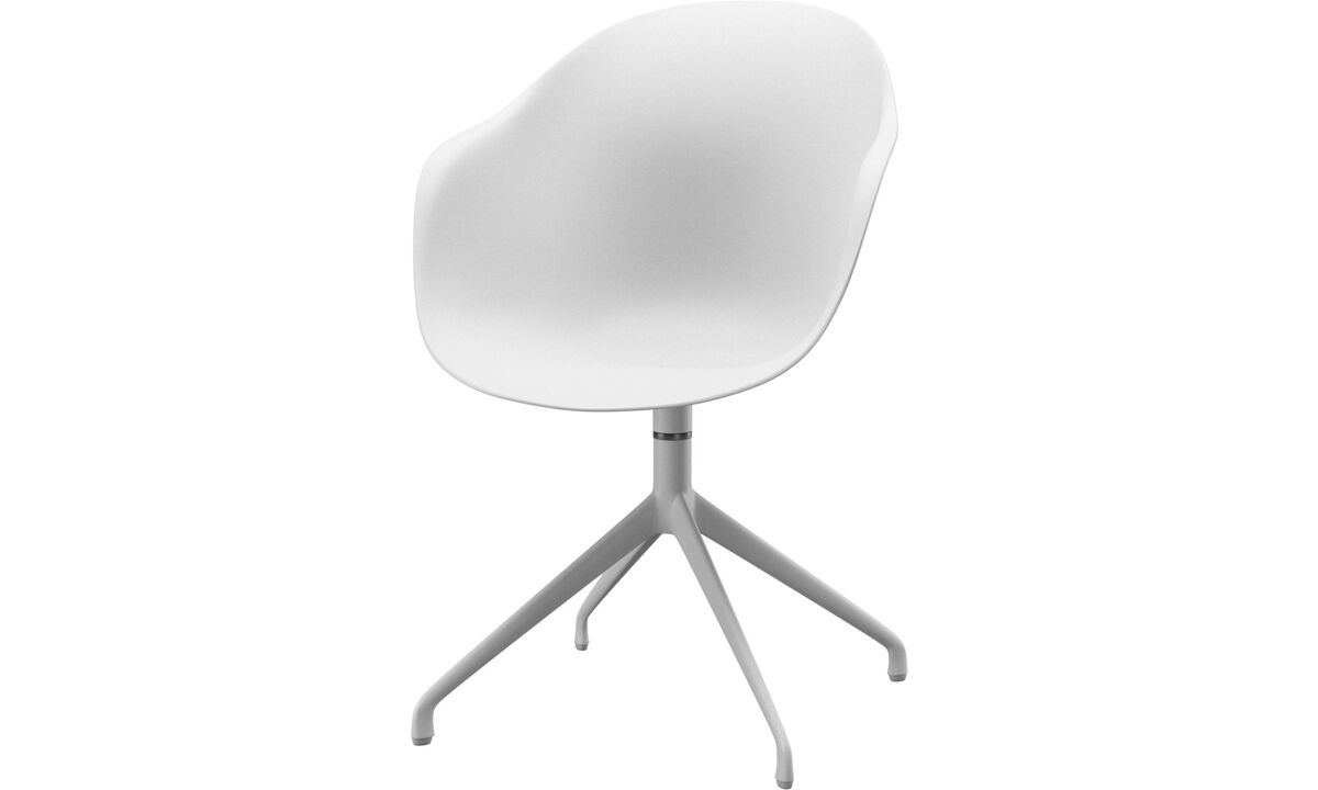 Dining chairs - Adelaide chair with swivel function - White - Metal