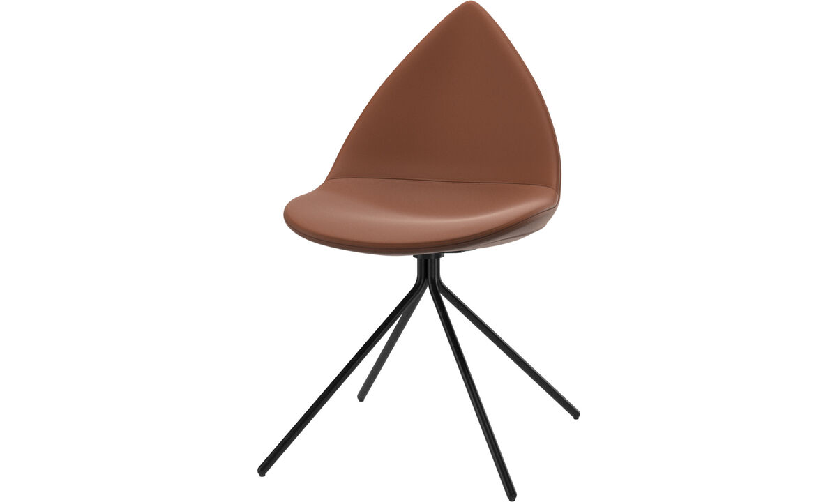 Dining chairs - Ottawa chair - Brown - Leather