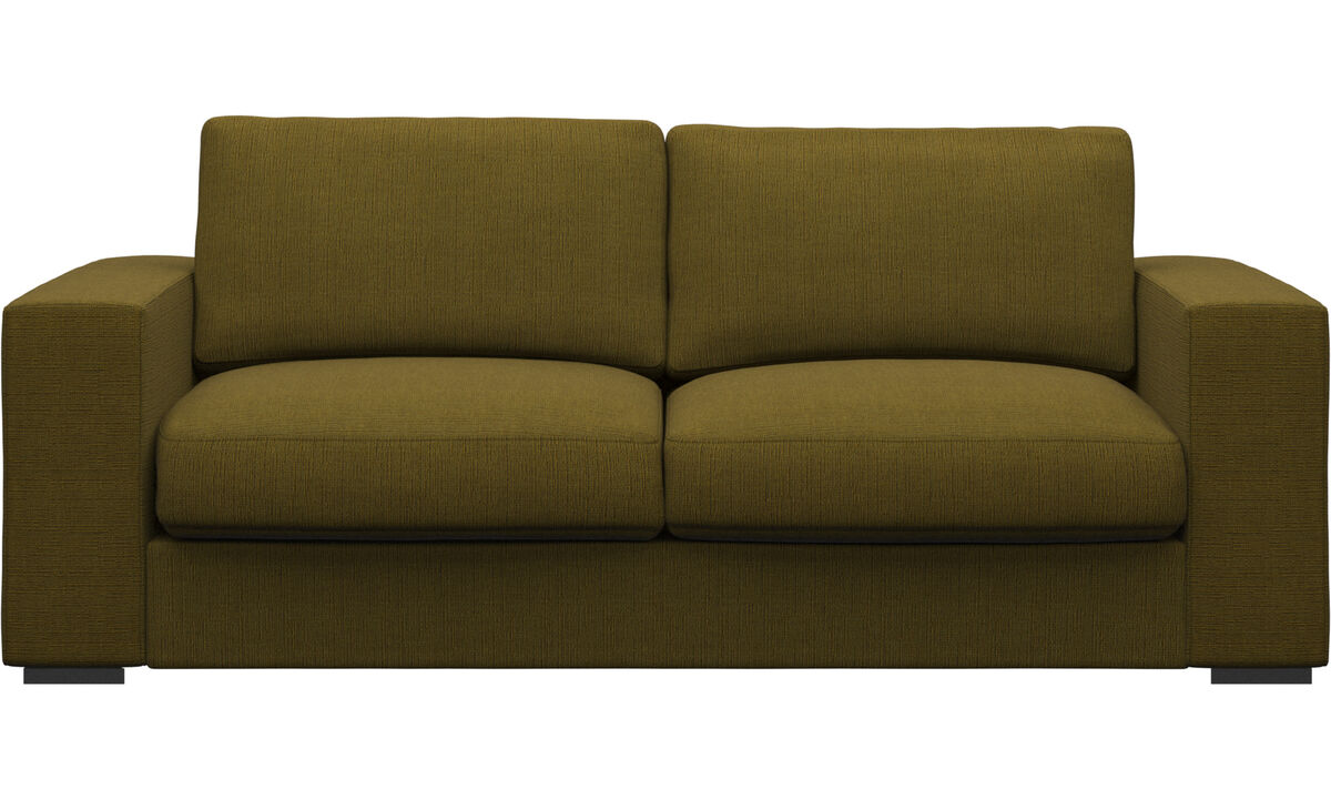 2.5 seater sofas - Cenova sofa - Yellow - Fabric