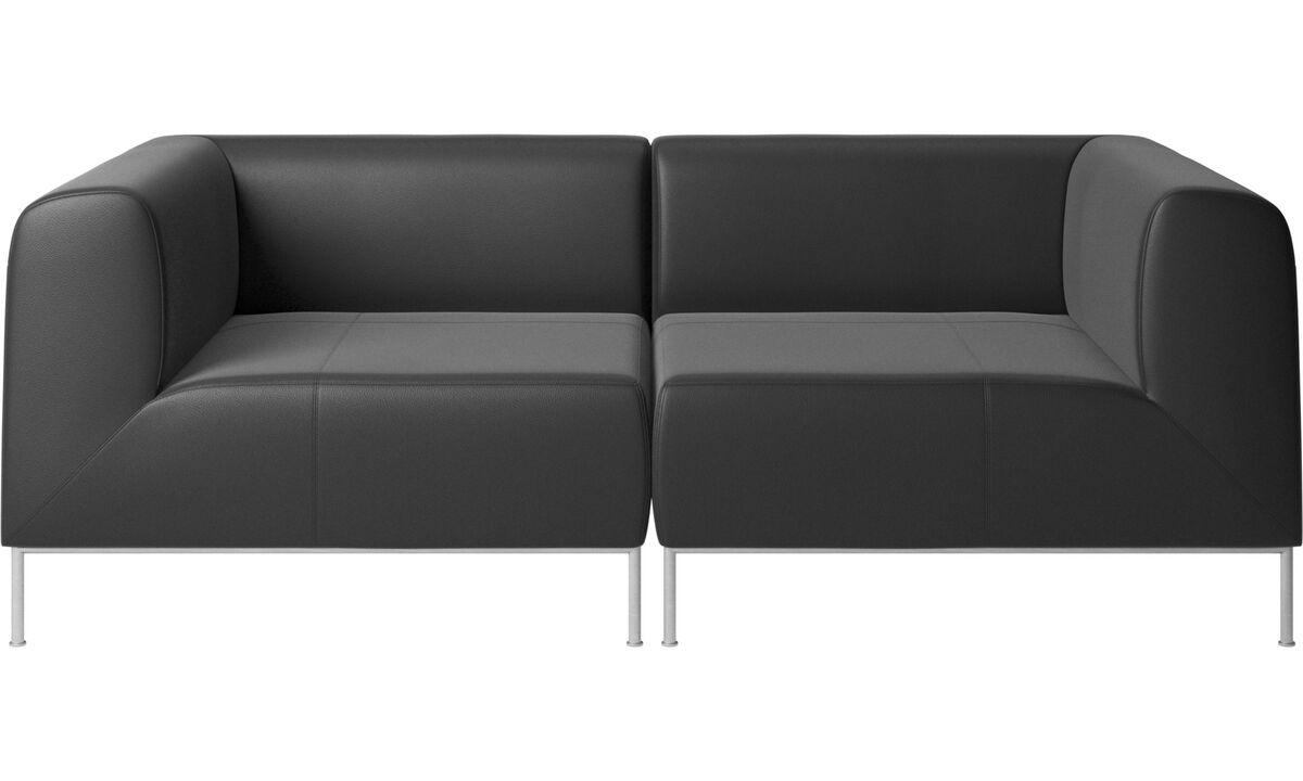 Sofás modulares - Sofá Miami - En negro - Piel