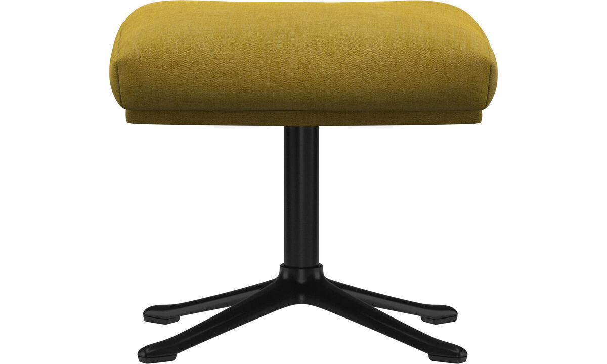 Footstools - Reno footstool - Yellow - Fabric