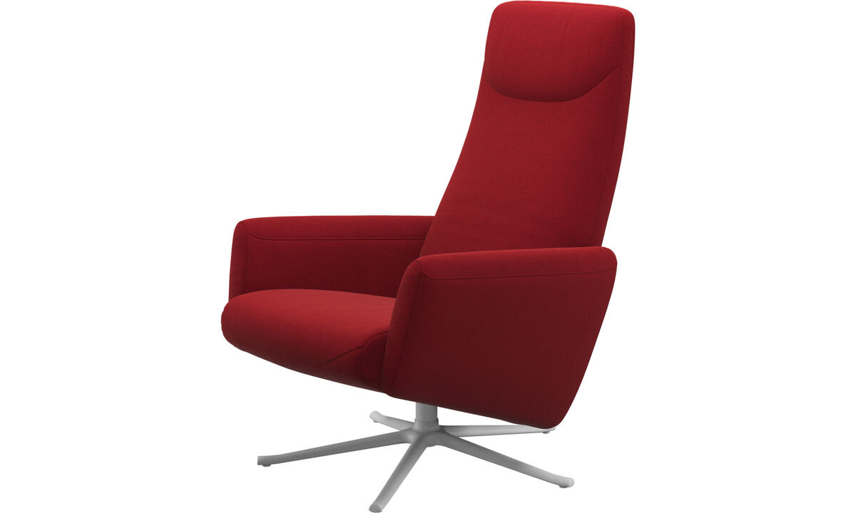 Recliners - Lucca recliner with swivel function - Red - Fabric