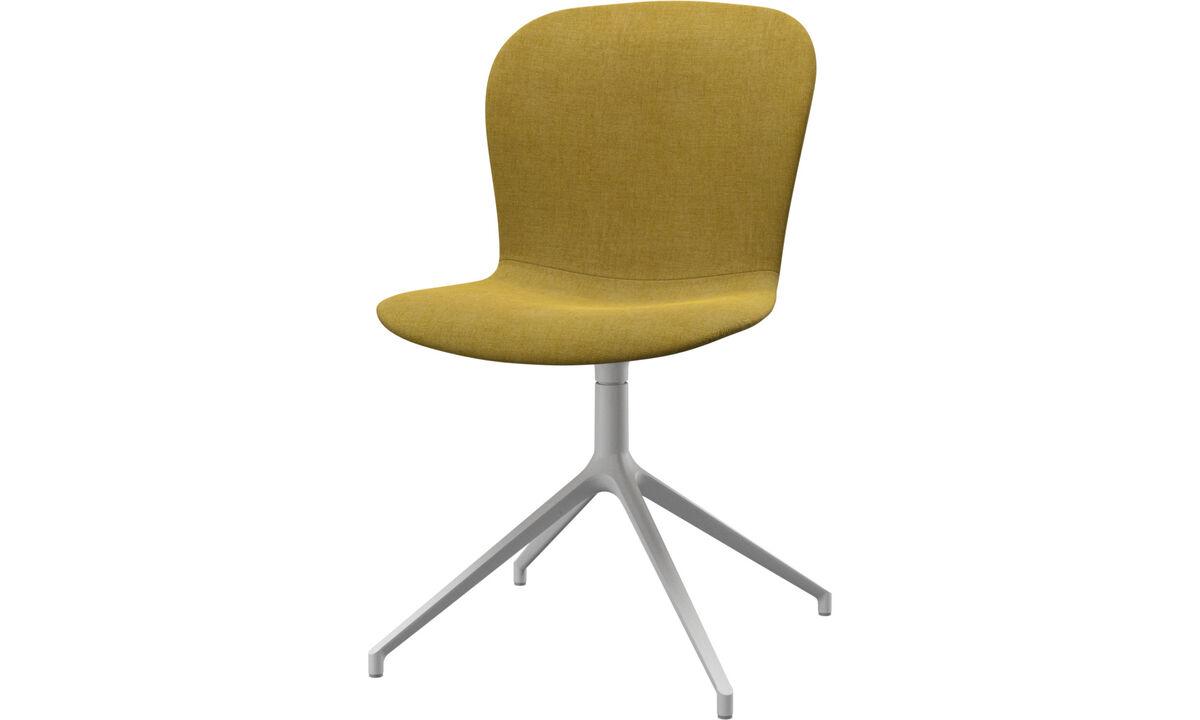 Sillas de comedor - silla Adelaide con función giratoria - En amarillo - Tela