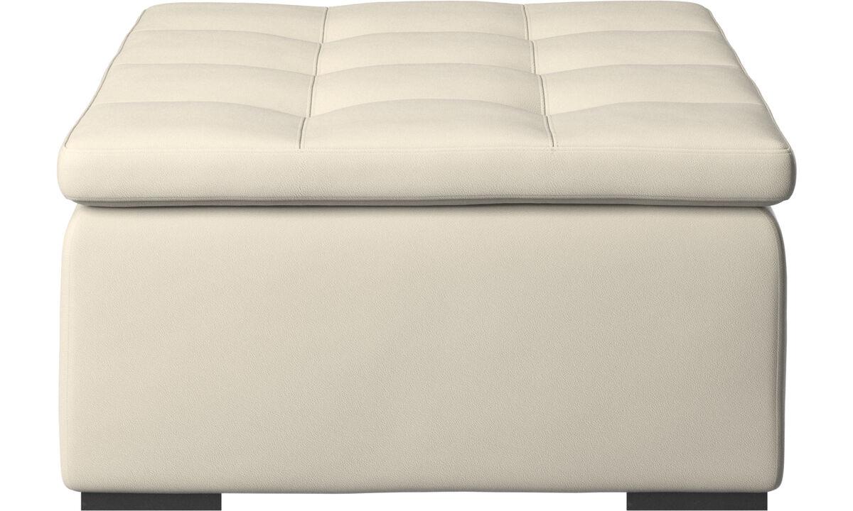 Footstools - Mezzo footstool - White - Leather