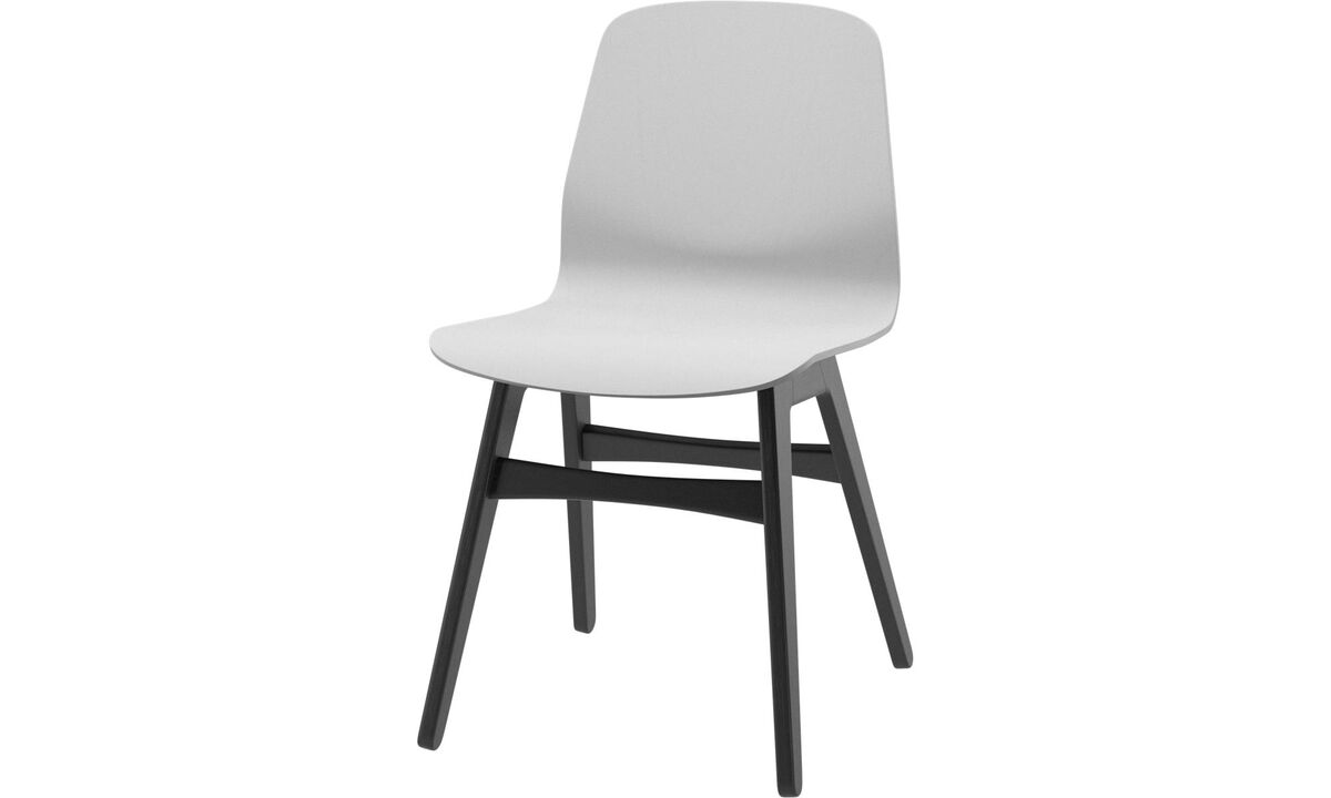 Dining chairs - scaun London - Alb - Stejar
