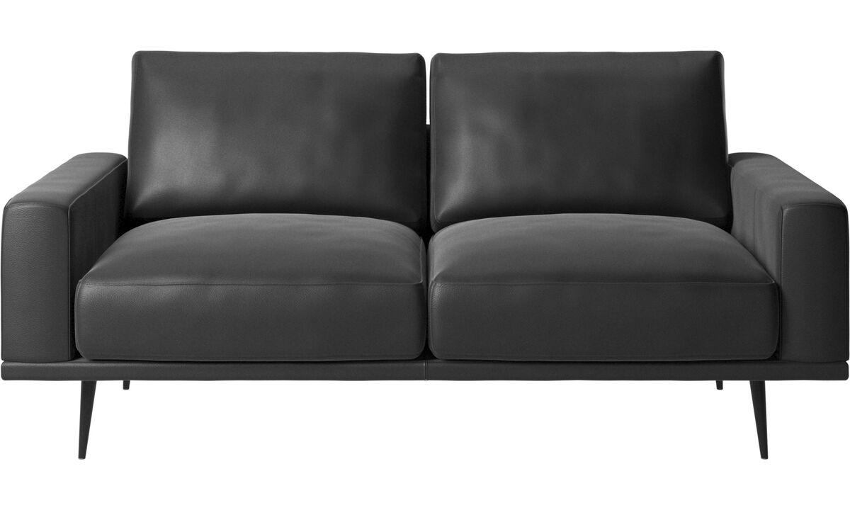 2 seater sofas - Carlton sofa - Black - Leather