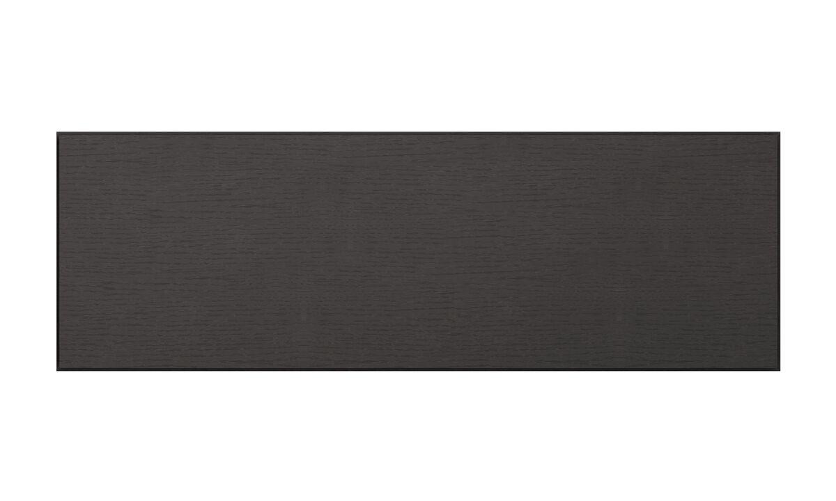 Sistemas de pared - armario de pared Lugano con puertas abatibles hacia arriba - En negro - Roble