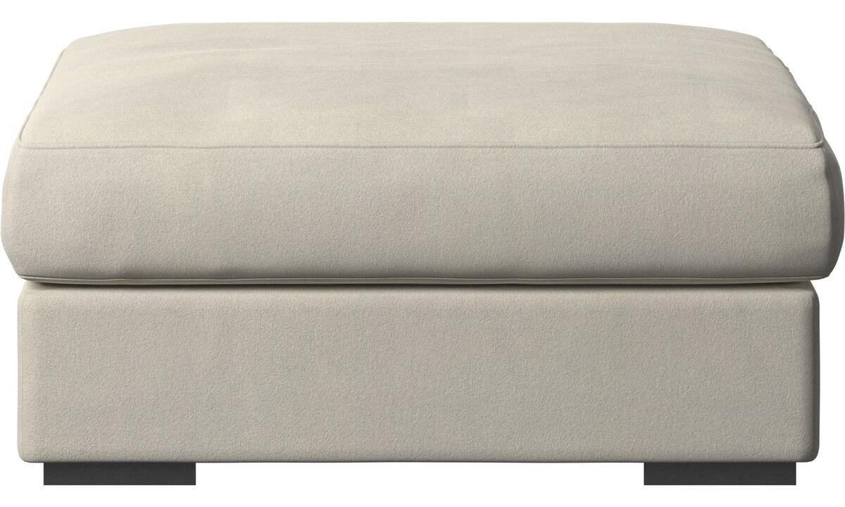 Footstools - Cenova footstool - White - Fabric